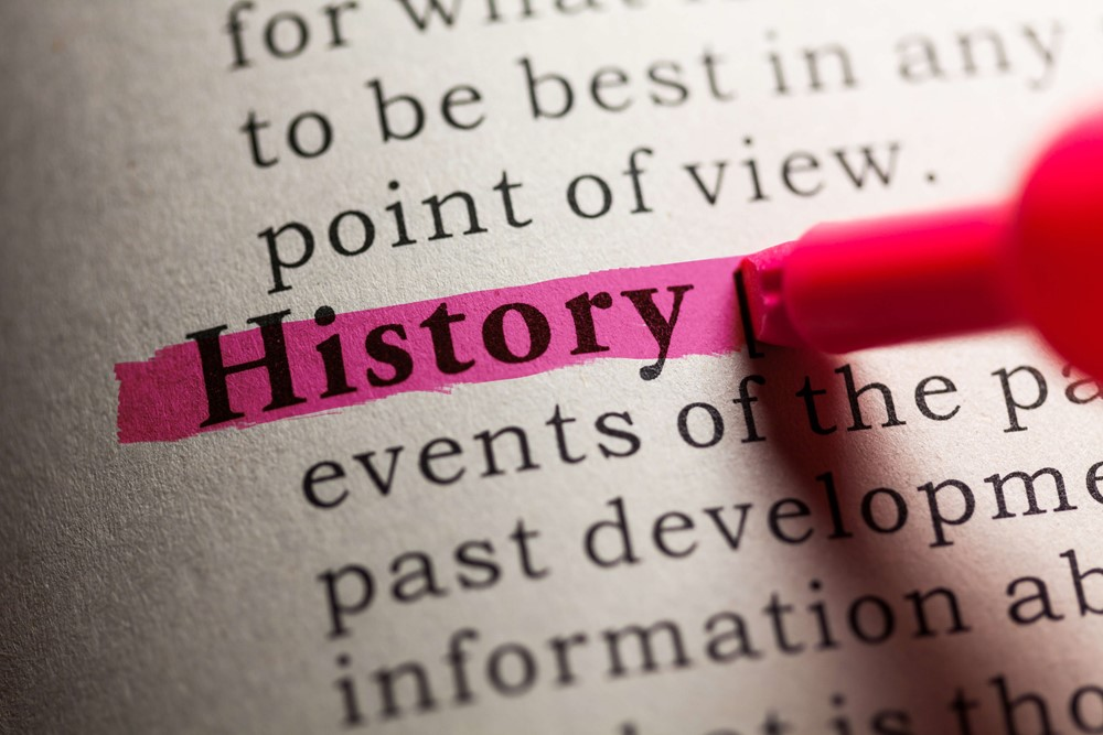 Highlighting the word History in document